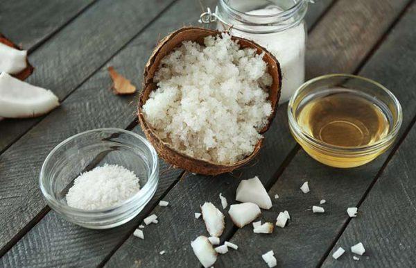 Ингредиенты для кокосового скраба