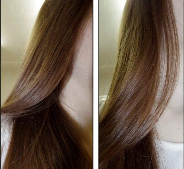 Волосы девушки, которая используется розмариновое масло для аромарасчёсывания