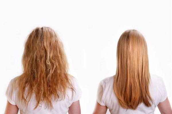 фото до и после лечения волос касторовым маслом