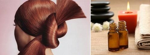 обёртывание для волос с эфирными маслами мяты и лаванды
