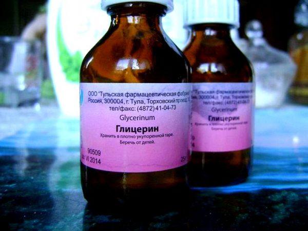 Глицерин в бутылочках