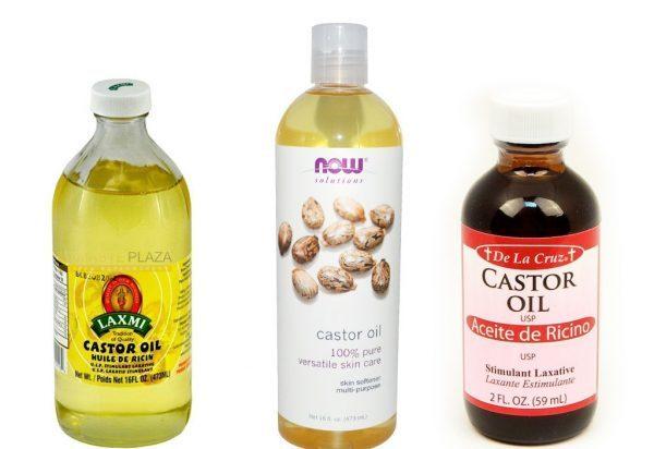 Касторовое масло разных видов в бутылках