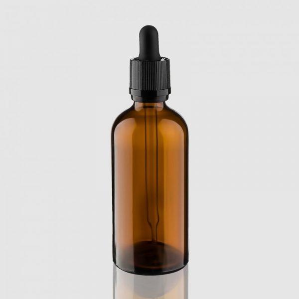 Тёмная бутылочка с дозатором