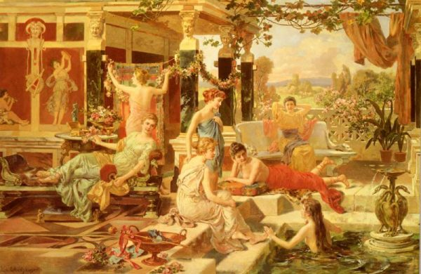 римлянки отдыхают в термах