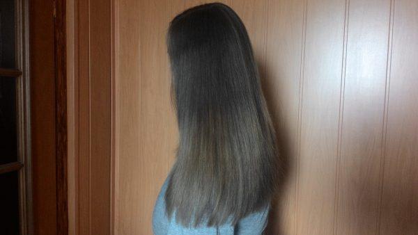 Результат окрашивания волос хной и басмой