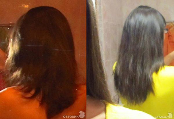 Фото волос до и после использования дрожжевой маски