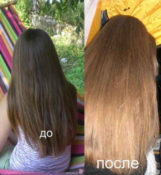 Фото волос до и после медовой маски с корицей