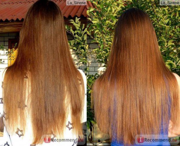 Фото волос до и после медовой маски с никотиновой кислотой