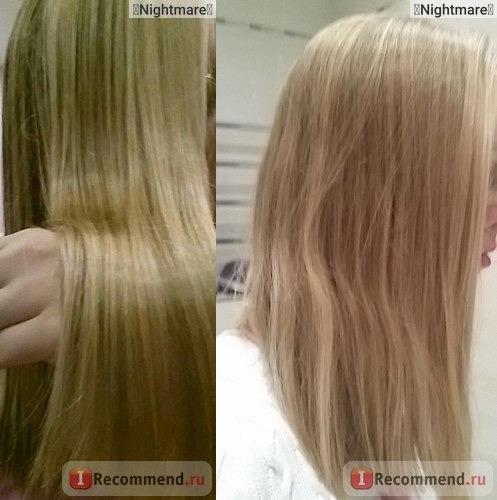 Фото волос после медовой маски