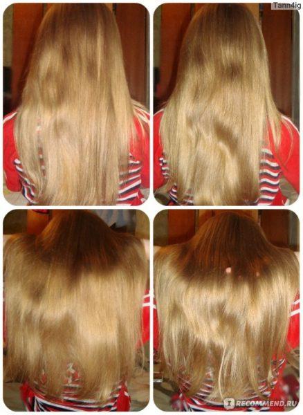 Фото волос после применения медовой маски