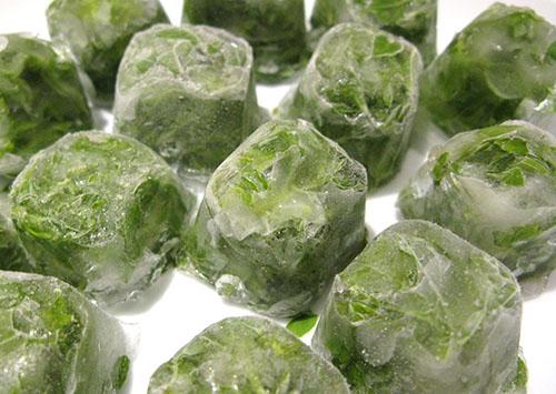 Кубики льда из отвара петрушки