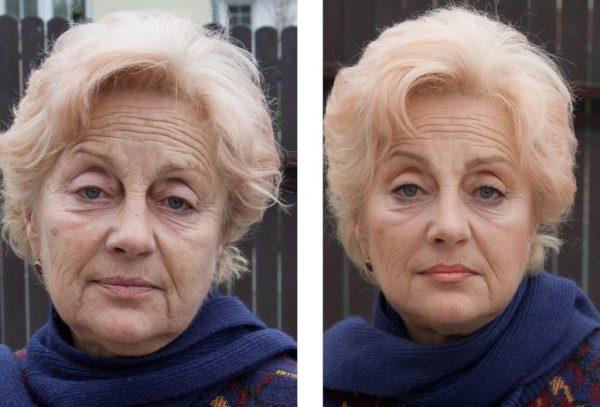 Омолаживающий макияж после 60 лет