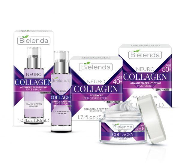 Серия антивозрастных кремов с коллагеном Bielenda Neuro Collagen
