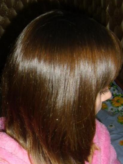 Волосы после использования маски с голубой глиной