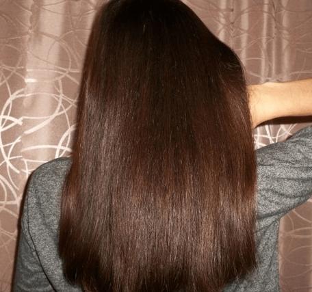 Фото волос после применения масок с камфорным маслом