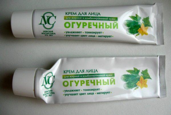 Крем «Огуречный»: новая и использованная упаковки