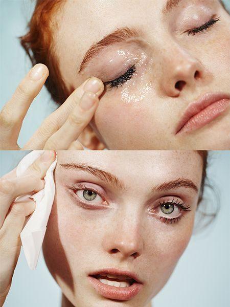 Снятие макияжа: коллаж