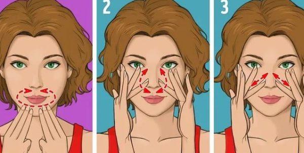 Упражнения Зоган для носа и зоны губ