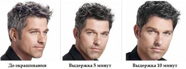 Результат тонирования волос у мужчин