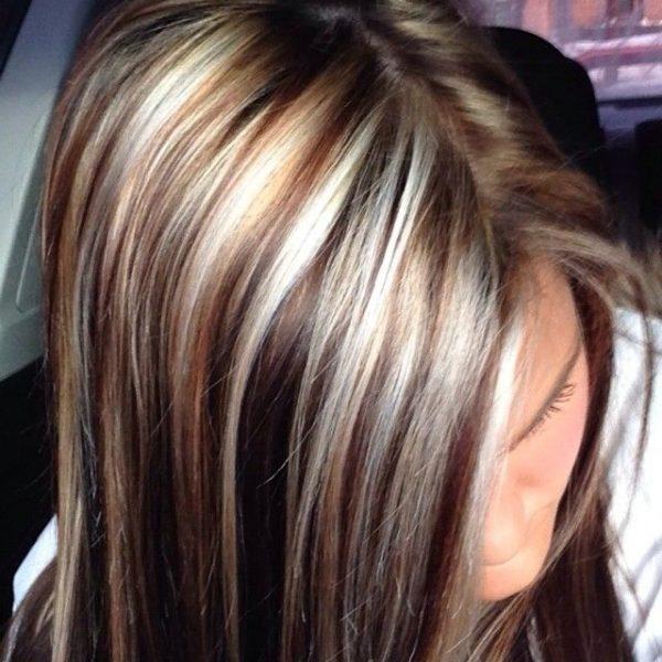Мелирование на тёмных волосах