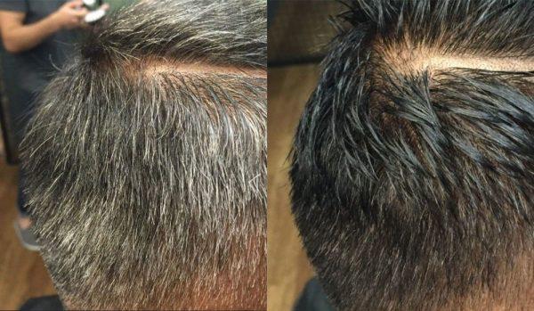 Камуфлирование седины на тёмных волосах