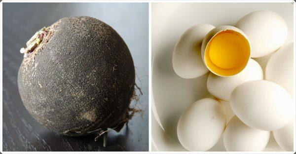 Чёрная редька и яйца