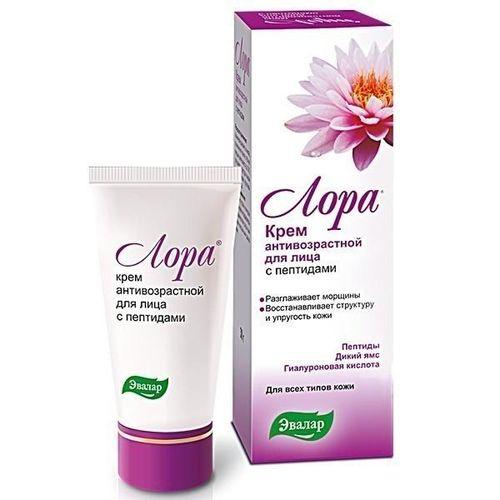 Антивозрастной крем для лица с пептидами «Лора» от Эвалар